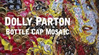 """""""Dolly Parton"""" - Bottle Cap Mosaic"""