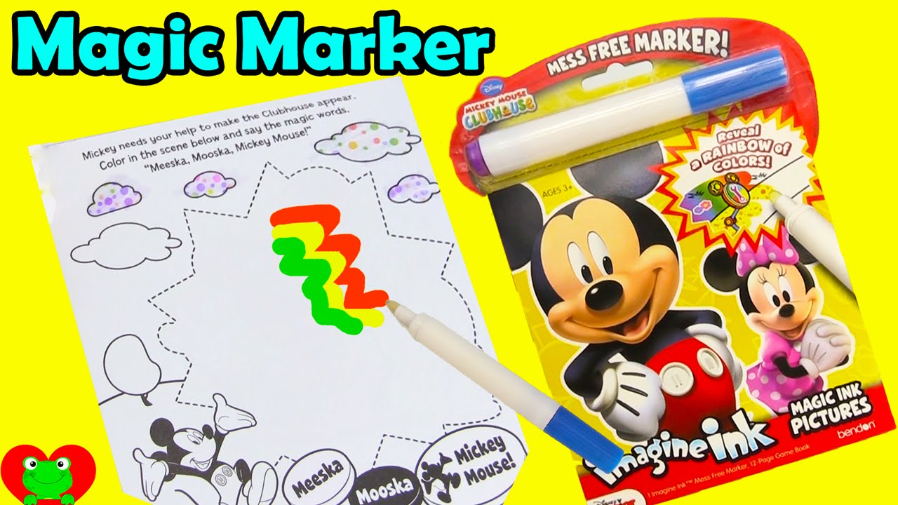 mickey mouse club house magic marker imagine ink game book and surprises youtube - Magic Marker Coloring Book