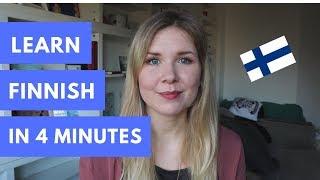 Learn To Speak Finnish In 4 Minutes