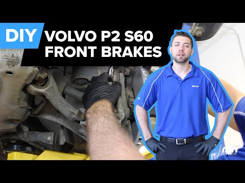 How To Replace Volvo S60 Front Brakes(Bosch QuietCast Pads & Rotors) FCP Euro