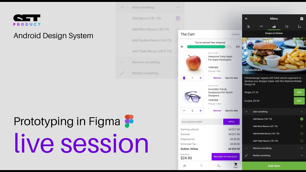 Figma Android UI kit  Live mobile prototyping session