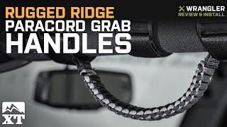 Jeep Wrangler Rugged Ridge Paracord Grab Handles (1987-2018 YJ, TJ, JK) Review & Install
