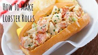 How To Make Lobster Rolls (Recipe) ロブスターロールの作り方 (レシピ)