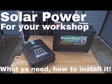 The Ultimate DIY Guide to Solar Power for your Shed (How to!)