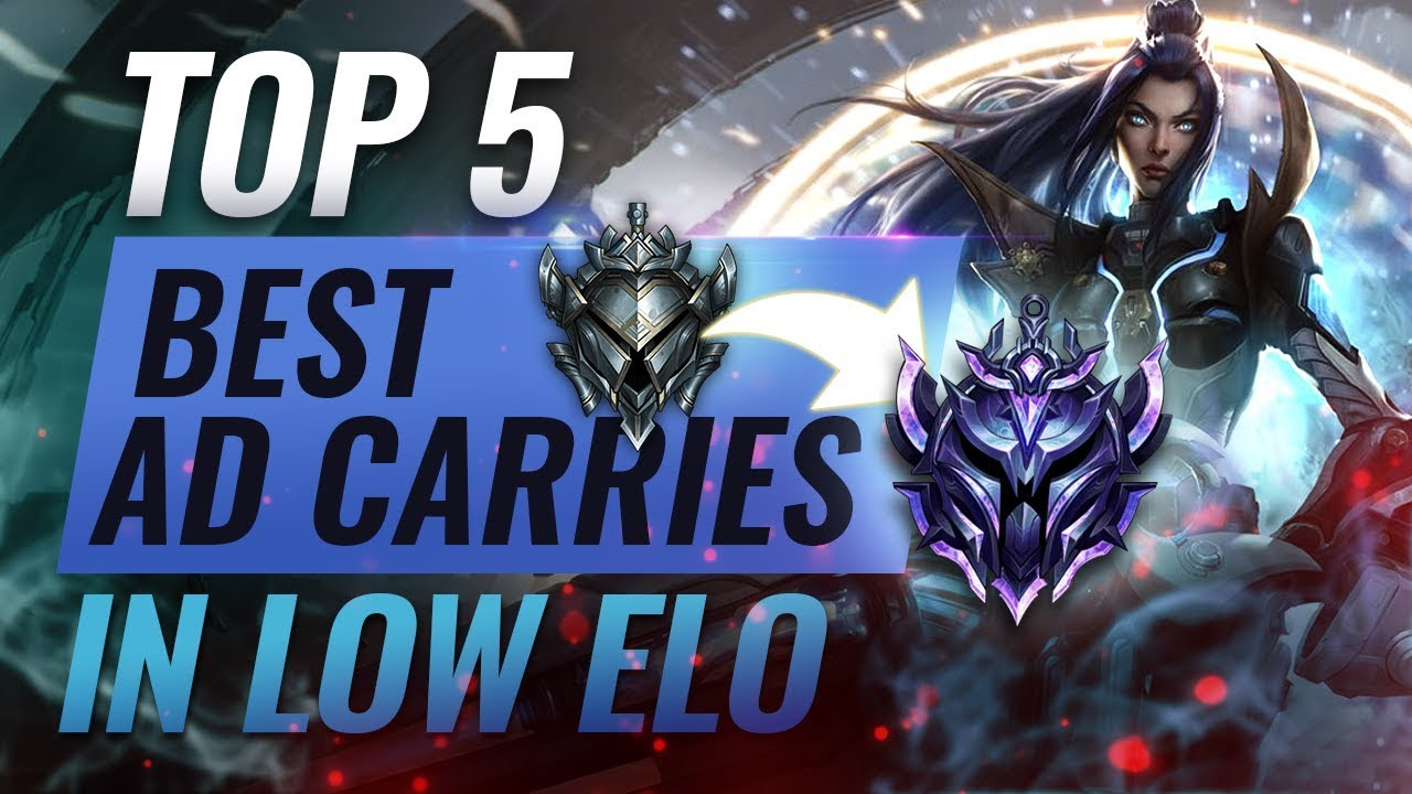 Top 5 Best Adc Champions For Climbing Out Of Low Elo League Of Legends Season 9 Youtube