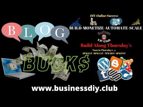 Build Along Thursdays- Blog Bucks