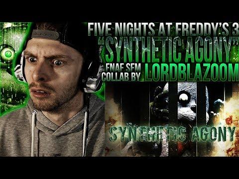 Vapor Reacts #595  FNAF SFM COLLAB FNAF 3 ANIMATION Synthetic Agony  LordBlazoom REACTION!!