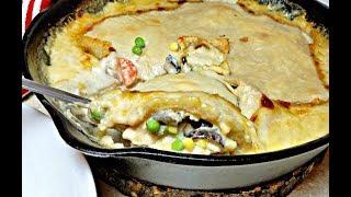 CHICKEN POT PIE made with Left Overs | Chicken Pot Pie Recipe | One Pan Pot Pie