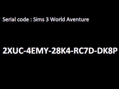 serial code sims 3 world adventure youtube