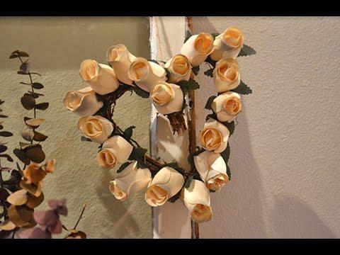 DIY Rustic Wooden Rose Wreath