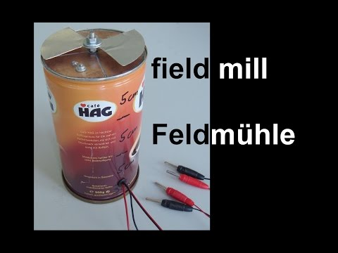 field mill for measuring the strength of electrical fields - Feldmühle