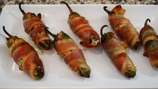 Bacon Wrapped Jalapenos stuffed with Jaiba Salad