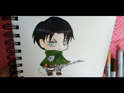 How To Draw Chibi Levi Copic Attack On Titan