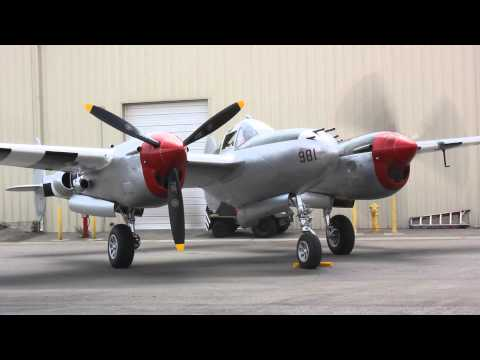 P-38 Lightning Engine Start