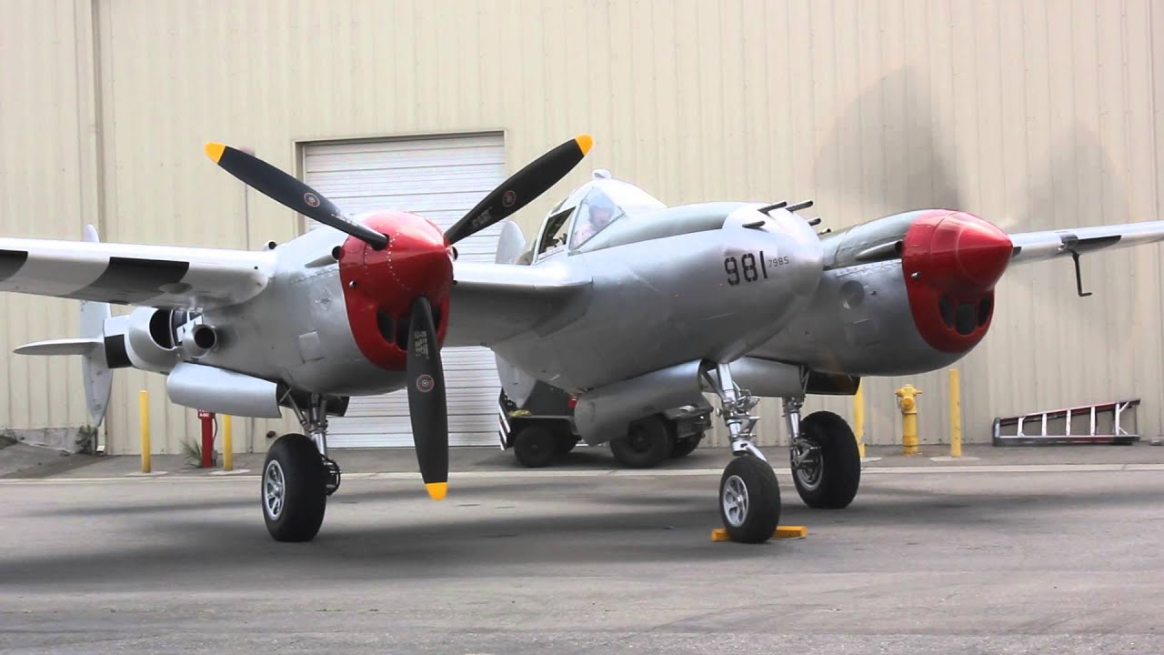 P 38 Lightning Engines