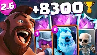 HOG 2.6 LADDER +8350 TROPHIES - CLASH ROYALE
