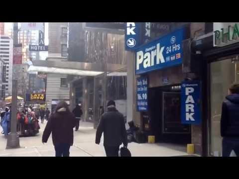 New York City Manhattan Tour - Broadway & W 55th Street - 99 Cent Pizza