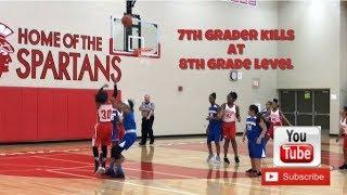 Girls Basketball Player Aniya Davis #30 (7th Grade Phenom plays 8th Grade Level) scores 24pts.