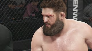 EA UFC (PS4): Roy Nelson vs Alistair Overeem Gameplay (CPU vs CPU) 5 Rounds - Staples Center