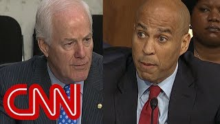 Cory Booker fires back at Cornyn's warning: 'Bring it'