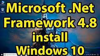 Gambar cover How to install Microsoft .NET Framework 4.8 Online/Offline  in Windows 10 ||