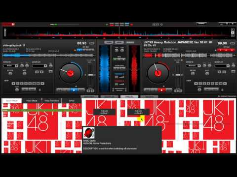 JKT48 heavy rotation (scracthing, looping, remix) with virtual dj