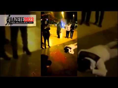 Taksim'de canlandırmalı şehit protestosu