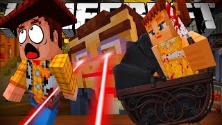MINECRAFT TOY STORY | SHERIFF WOODY ESCAPES FROM DOLL GABBY GABBY | MINECRAFT XBOX