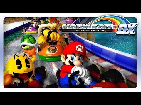 Mario Kart Arcade GP DX: Mario, Luigi, Donkey Kong and Peach Gameplay!