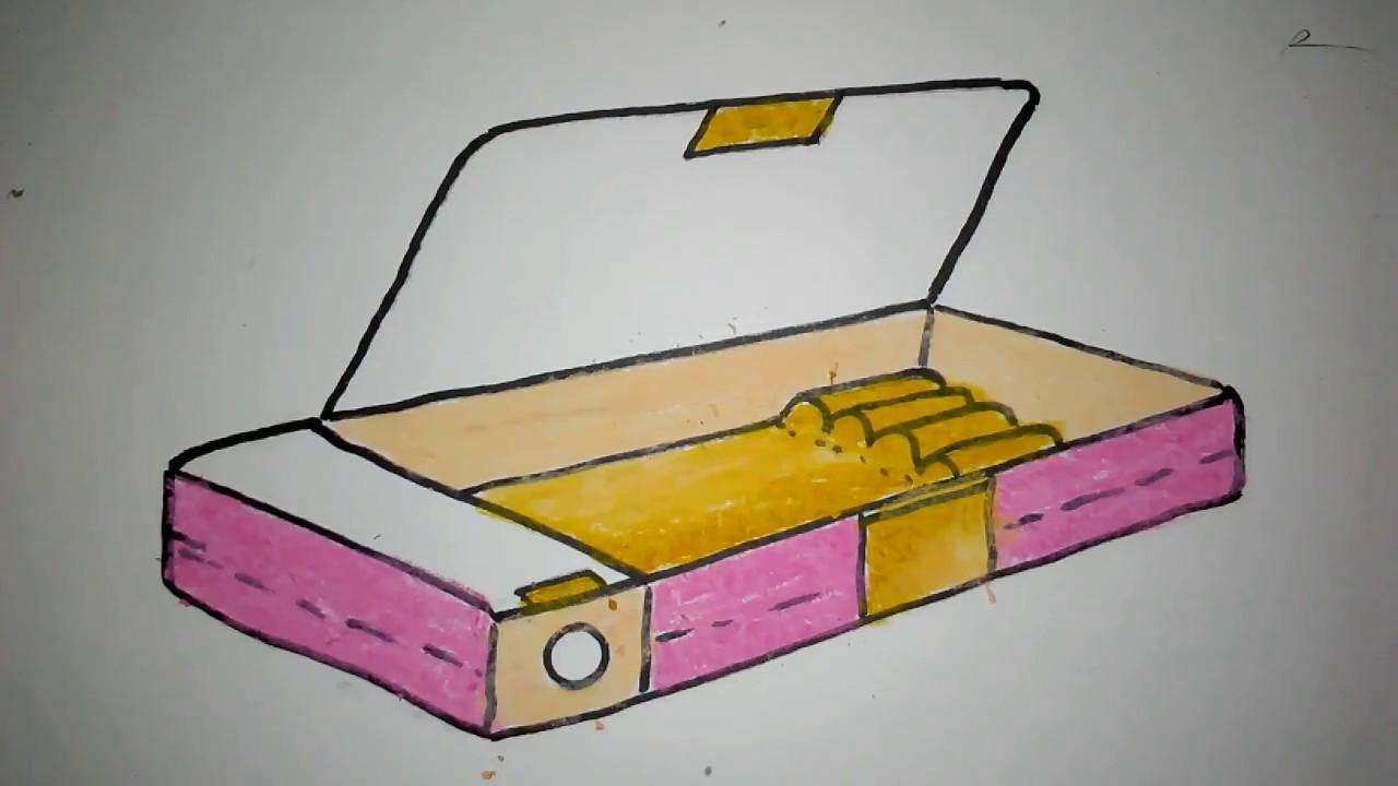 cara menggambar kotak pensil  YouTube