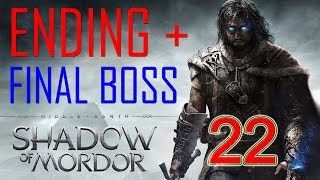 Middle Earth Shadow of Mordor Ending Final Boss Walkthrough Part 22 Gameplay Shadow of Mordor ending