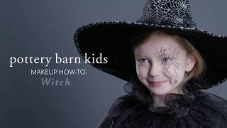 Fun Halloween Makeup Tutorial - Witch Costume for Pottery Barn Kids