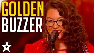 Mandy Harvey gets Simon's GOLDEN BUZZER On America's Got Talent 2017