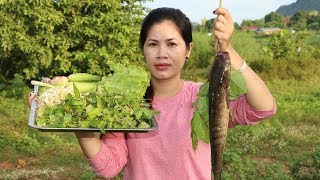 Awesome Cooking Grilled Fish WWith Noodle Delicious Recipe - Fresh Vegetables -Village Food Factory