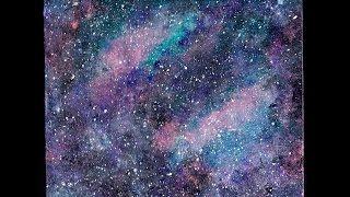 Pintando Galaxia con pinturas acrílicas / Speed art