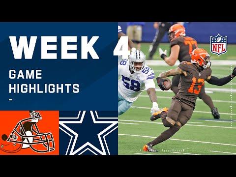 Browns vs. Cowboys Week 4 Highlights | NFL 2020