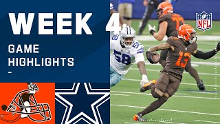 Browns vs. Cowboys Week 4 Highlights | NFL 2020