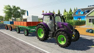 Colorful Loading Trailers and Colorful Tractor - Supplier   Animal Feed and Field Spraying + Farma