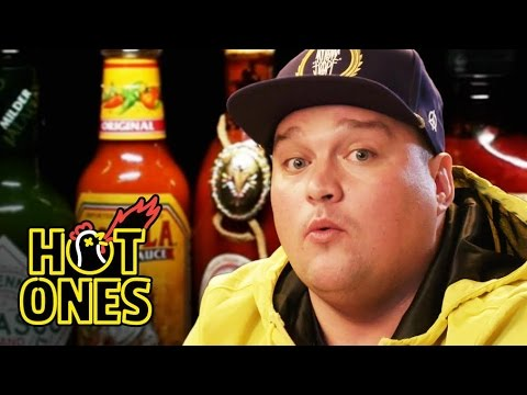 Charlie Sloth Makes His Mum Proud Eating Spicy Wings   Hot Ones