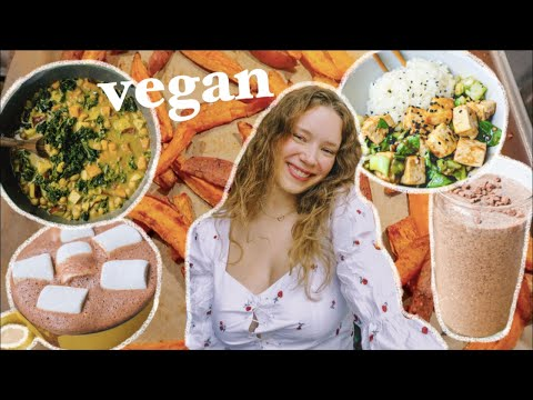 what i eat in a WEEK as a student   vegan & easy