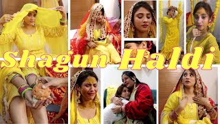 VLOG || haldi shagun day || painful time || #Vlog145 #shykishadi