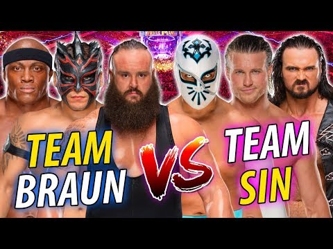Braun Strowman & Kalisto & Bobby Lashley vs. Sin Cara & Drew McIntyre & Dolph Ziggler