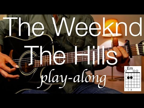 The Weeknd - The Hills Guitar Lesson / Tutorial - Play-along on acoustic Guitar /cover/