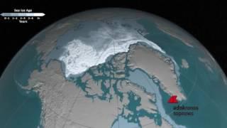 Lo scioglimento dei ghiacci nell'Artico dal 1984 visto dalla Nasa...