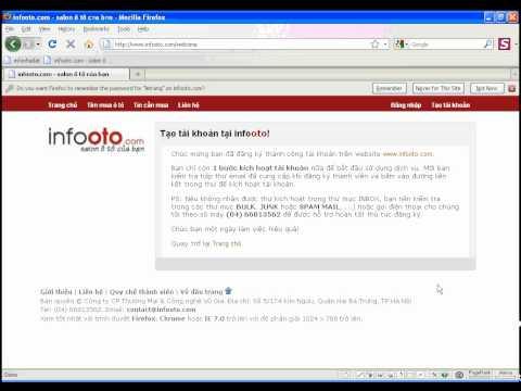 Hướng dẫn tạo tài khoản thành viên trên infooto.com