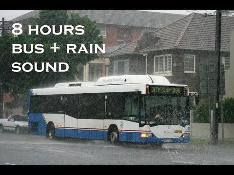 8 hours sound of driving bus with rain - Ambient Sounds for Deep Sleeping