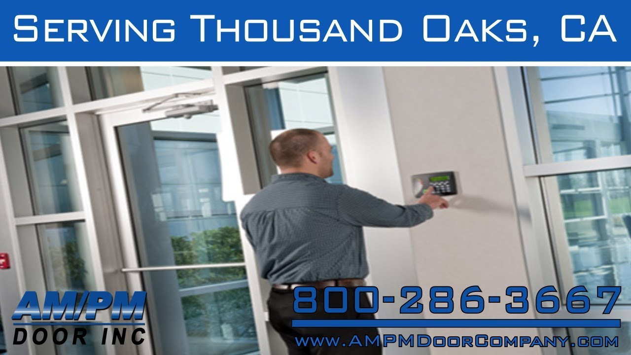 Thousand Oaks Glass Front Rolling Fire Rated Door Lock Service Youtube