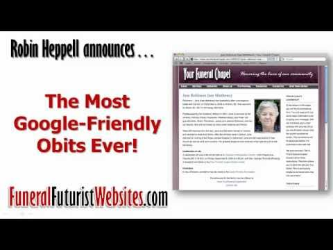 The Most Google Friendly Obits Ever | Funeral Home Website Obituaries