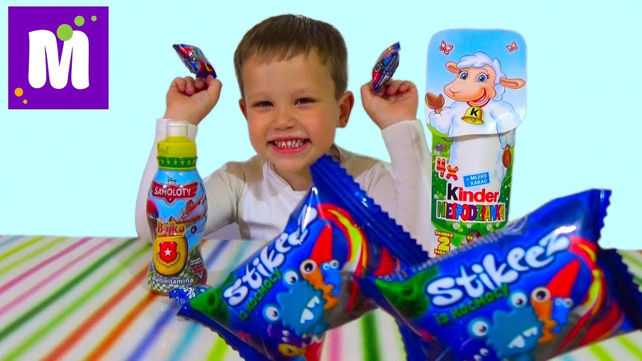 Самолеты Дисней Ежики Киндер сюрприз игрушки распаковка