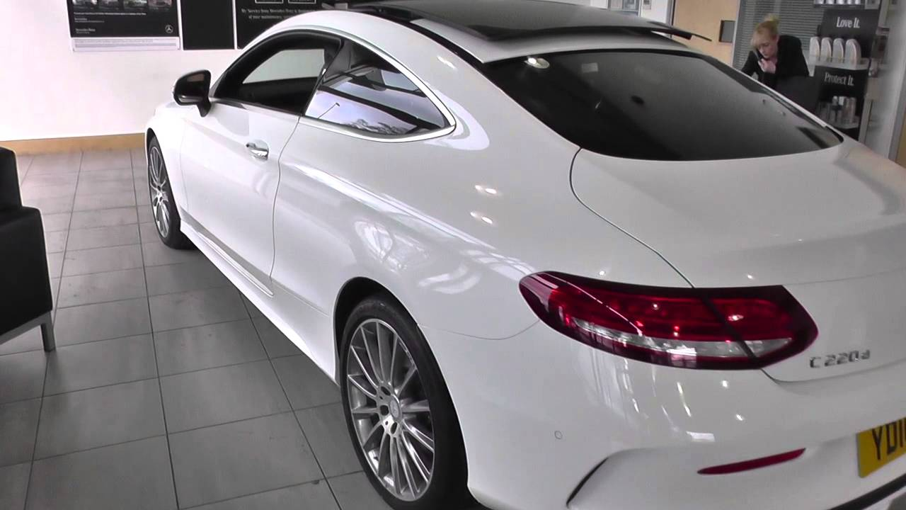 mercedes benz c class coupe 2015 c 220 d amg line coupe u73535 youtube. Black Bedroom Furniture Sets. Home Design Ideas